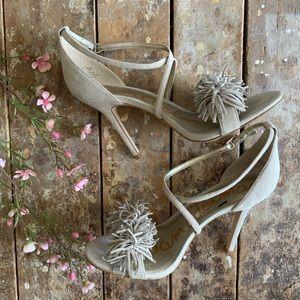 Sam Edelman Aisha Suede Fringe High-Heel Sandal